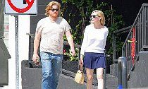 Kirsten Dunst and Jesse Plemons Spotted Locking Lips