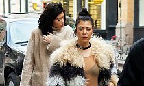 Hot Mom Kourtney Kardashian Flashes Bra During Sister Date
