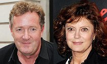 Susan Sarandon Reacts to Piers Morgan's Criticism About Her Cleavage