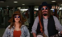 Christina Aguilera and Jimmy Fallon Busk in Disguise in NYC Subway