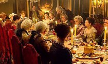 Jamie and Claire Host a Feast in 'Outlander' Season 2 Photos