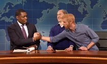 Prince Harry Mocks William's New Shaved Head on 'SNL'