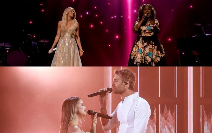 ACM Awards 2021: Carrie Underwood Looks Angelic, Maren Morris and Ryan Hurd Offer Sultry Performance