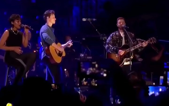 Shawn Mendes Thanked Justin Timberlake for Surprise iHeartRadio Duet