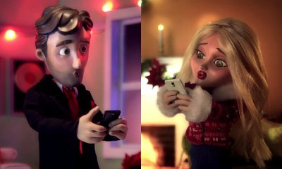 Text Me Merry Christmas.Kristen Bell Gets Animated In Text Me Merry Christmas