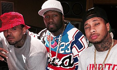50 Cent Hints at Collaboration With Chris Brown and Tyga