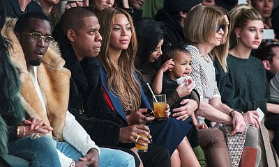 Beyonce, Jay-Z, Kim Kardashian, Anna Wintour Sit Front Row at Kanye West's Fashion Show