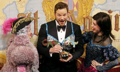 Chris Pratt Dons Leopard Bra With Dinosaurs During Hasty Pudding's Man of the Year Event