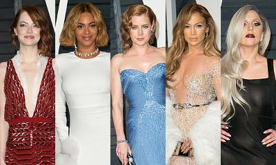 Emma Stone, Beyonce, Amy Adams, JLo, Lady GaGa Glitter Vanity Fair's Oscars After-Party