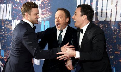 Justin Timberlake, Jimmy Fallon Get Goofy on 'SNL' 40th Anniversary Special Red Carpet