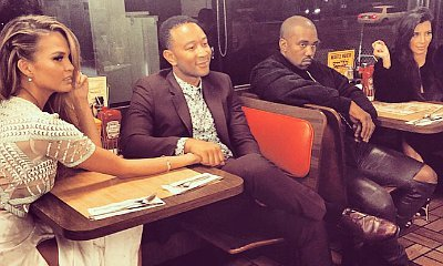 Kanye West and John Legend Having Double Date at Waffle House