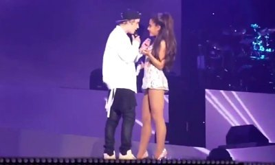 Video: Justin Bieber Flubs Lyrics as He Makes Surprise Appearance at Ariana Grande's Concert