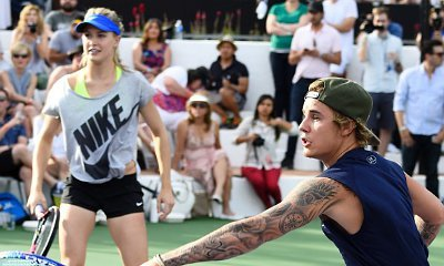 Justin Bieber Paired Up With Tennis Pro Eugenie Bouchard at Charity Match