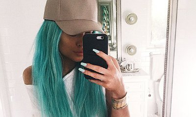 Kylie Jenner Dyes Her Hair Aqua Blue