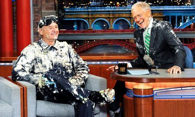 Bill Murray Pops Out of Cake on 'Late Show', Jimmy Kimmel Bids Farewell to David Letterman