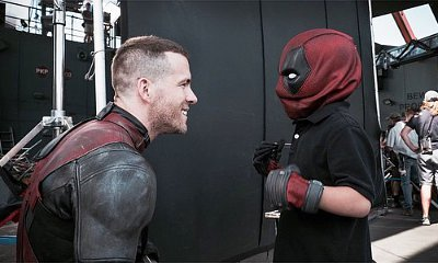 Ryan Reynolds Meets Young Cancer Patient as Deadpool