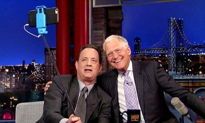 Tom Hanks Teaches David Letterman About Selfie Stick on 'Late Show'