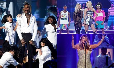 Videos: Wiz Khalifa, Britney Spears and Mariah Carey Perform at 2015 BMAs
