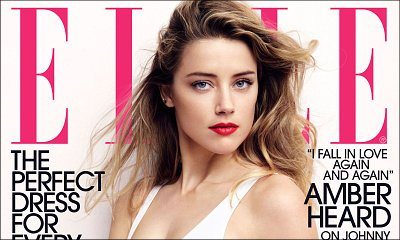 Amber Heard Is Sizzling Hot on Elle Cover, Finally Talks About Marriage to Johnny Depp