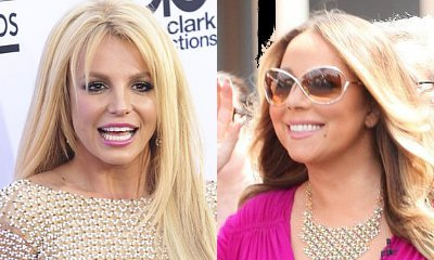 Britney Spears Paints Topless While Listening to Mariah Carey's New Album