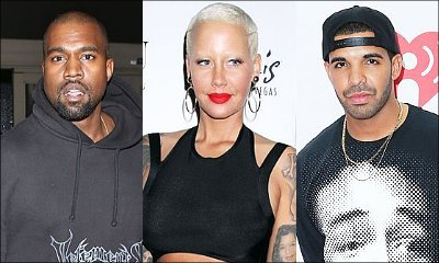 Kanye West and Amber Rose Party at Drake's L.A. Mansion