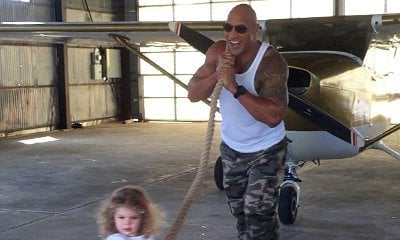 Video: The Rock Helps 2-Year-Old Girl Pull Airplane on Set of 'Central Intelligence'