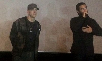 Eminem and Jake Gyllenhaal Surprise Fans at 'Southpaw' Detroit Screening