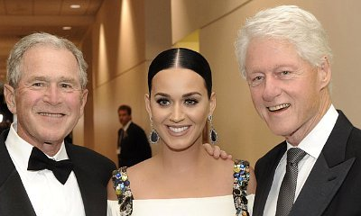 Katy Perry Poses With Bill Clinton and George W. Bush, Jokes She May Be the Next President