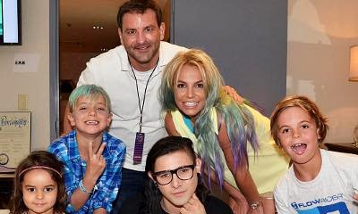 Britney Spears Debuts New Ombre Hair While She and Her Sons Meet Skrillex Backstage