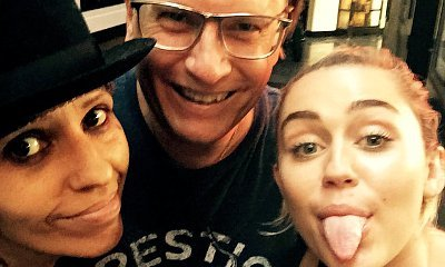 Miley Cyrus Pictured in Studio With Linda Perry