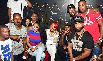 Nicki Minaj Avoids Eye-Contact With Meek Mill in Group Photos While Partying Together in Atlanta