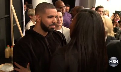 Video: Drake Shows Affection to Serena Williams at NYFW