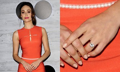 Emmy Rossum Shows Off Engagement Ring, Is in No Rush to Wed