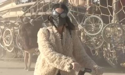 Katy Perry Falls Off Her Segway at Burning Man Festival