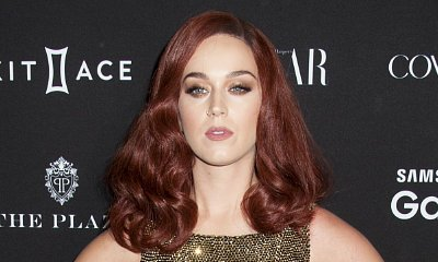 Katy Perry Sports Red Curly Hair at Harper's Bazaar Icons Event