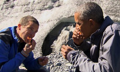 President Obama Eats Leftover Fish in 'Running Wild with Bear Grylls' Clip
