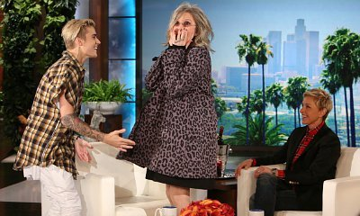 Video: Diane Keaton Is a Total Fan Girl When Meeting Justin Bieber on 'Ellen'