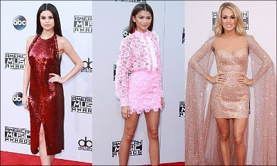 American Music Awards 2015: Selena Gomez, Zendaya, Carrie Underwood Stun on Red Carpet