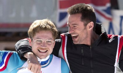 Hugh Jackman Is Taron Egerton's Trainer in 'Eddie the Eagle' First Official Photos