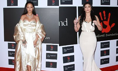 Rihanna Glowing in Gold, Kylie Jenner Beautiful in White at 2015 Diamond Ball