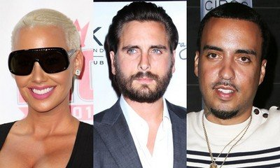 Amber Rose Hangs Out With Kardashian Exes Scott Disick and French Montana