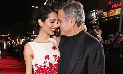 George Clooney and Wife Amal Get Lovey Dovey at 'Hail Caesar' L.A. Premiere