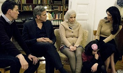 George Clooney and His Wife Amal Meet Syrian Refugees After Angela Merkel Meeting