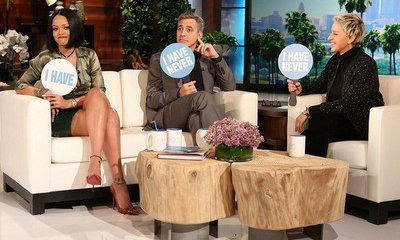 Watch George Clooney and Rihanna Play 'Never Have I Ever' on 'Ellen'