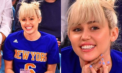 Miley Cyrus Shows Off Engagement Ring at Knicks vs. Cavaliers Game