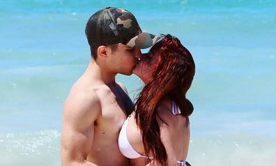 Ariel Winter Flaunts Major Curves in Tiny Bikini While Kissing Boyfriend in the Bahamas