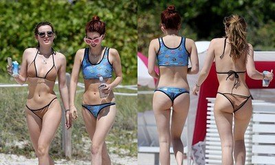 Bella Thorne and Her Sister Dani Flaunt Their Hot Bodies in Sexy Bikinis