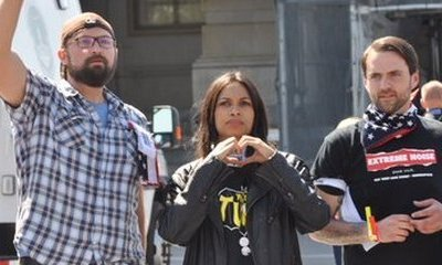 Rosario Dawson Arrested During Protest in Capitol Hill