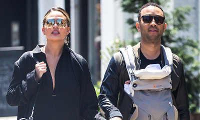 Chrissy Teigen and John Legend Take a Stroll With Daughter Luna, Model Calls Her Husband a 'DILF'