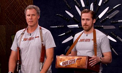Watch Will Ferrell and Ryan Gosling Interrupt Jimmy Kimmel's Monologue to Sell Their Knives